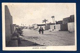 Libye. Murzuk. ( Fezzan). Il Dendal ( Rue Centrale). Passants. 1950 - Libya