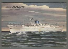 V4887 NAVIGAZIONE FLOTTA LAURO SURRIENTO Nave Ship ILLUSTRAZIONE SCRITTA (m) - Commercio