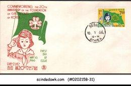 KOREA - 1966 20th ANNIVERSARY OF GIRL SCOUTS OF KOREA - FDC - Korea, South