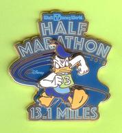 Pin's BD Disney Half /Demi Marathon 13.1 Miles Donald (Double Moule) RARE - 2N21 - Disney