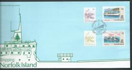 Norfolk Island 1990 Ship Definitives Series I Set 4 5c - $2 On FDC Official Unaddressed - Norfolk Island