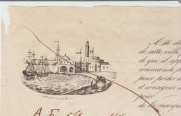 B Du R: Connaissement Maritime MARSEILLE / ALGER  Vapeur Phlippe Auguste De 1848 Transport Balles Coton TB - 1800 – 1899