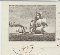 B Du R: Connaissement Maritime Pour Naples  Vapeur Le Castor De 1842 Transport Balles Coton, Commerce Rothschild TB - 1800 – 1899