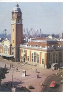 BULGARIE : VARNA Railway Station / CPM Souple Voyagée Datée 1992 / Timbre Au Dos = DINDON / Rare / Bon état - Bulgaria