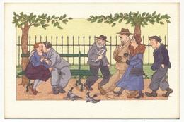 """CPM - PARIS - """"Bancs Publics"""" - Dessin De Anne Odile HUET - Places, Squares"""