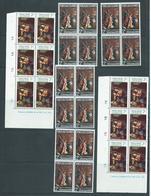 Tokelau 1969 & 1970 Christmas 4 Blocks Of 4 & 2 Imprint Blocks Of 6 MNH / MLH - Tokelau