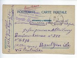 CPA Prisonnier De Guerre Allemagne Via Pontarlier Bautzen - Guerra 1914-18