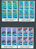 Tokelau 1972 South Pacific Commission Set Of 4 In Imprint Blocks Of 6 MNH / MLH - Tokelau