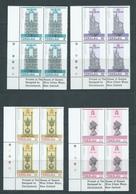 Tokelau 1978 QEII Coronation Anniversary Set 4 In Imprint Blocks Of 4 MNH - Tokelau