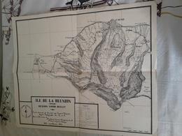 REUNION ...CARTE .... ILE DE LA REUNION REGION NORD OUEST 1945 - Geographical Maps