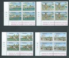 Tokelau 1980 Sports III Set 4 In Imprint Blocks Of 4 MNH - Tokelau