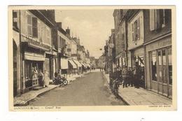 CHER / SANCOINS / GRAND' RUE ( Boucherie + Tabac )/ Adressée à Mr David EISENMANN, Fourreur à Périgueux ( Retour 1942..) - Sancoins