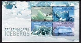 AAT, 2011 ICEBERGS MINISHEET CTO - Australian Antarctic Territory (AAT)