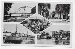 LORIENT - MULTIVUES AVEC PORT DE GUERRE - Ed. MESNY A RENNES - FORMAT CPA NON VOYAGEE - Lorient