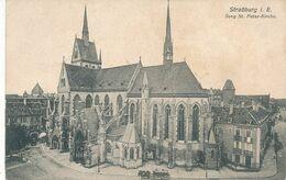 CPA -2580-67 - Strassburg  I.E. -Jung St Peter Kirche (bel Attelage En Petit Plan)  -Envoi Gratuit - Strasbourg