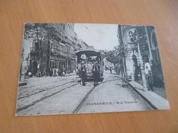 CPA Brasil Brésil Pernambuco Rue Victoria Tram Tramway à Cheval Paypal Ok Out Of Europe - Other