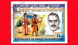 MAURITANIA - Usato - 1977 - Premi Nobel - Letteratura, 1929 - Thomas Mann, Littérature - Posta Aerea - 55 - Mauritania (1960-...)