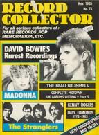 REVUE ANGLAISE RECORD COLLECTOR N° 75   De 1985 : BOWIE     ETC ........... - Objets Dérivés
