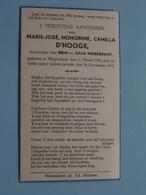 DP Marie-José D'HOOGE ( Remi En Julia HEIREBRANT ) Waarschoot 11 Maart 1940 - 18 Nov 1945 ( Zie Foto's ) ! - Obituary Notices