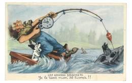 CPA ILLUSTRATEUR RAFFRAY LES GRANDS BROCHETS Pecheur - Ilustradores & Fotógrafos