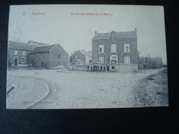 MERDORP : école Des Filles Et Le Marca En 1909 - Hannuit
