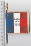 DRAPEAU FANION 24° RA REGIMENT D' ARTILLERIE , En Métal - Drapeaux