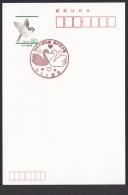 Japan Commemorative Postmark, Love Swan (jci0625) - Giappone