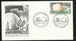FDC 2 Lettres Illustrées Premier Jour Pleumeur Bodou Le 19/10/1962 N°1360 Et 1361 Telecoms  TB Soldé  à Moins De 20 % !6 - 1960-1969
