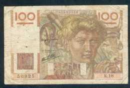 100F JEUNE PAYSAN 7/11/45 (2) - 1871-1952 Circulated During XXth