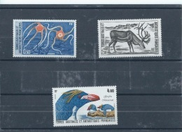 TAAF 1987 - YT N° 122/124 NEUF SANS CHARNIERE ** (MNH) GOMME D'ORIGINE LUXE - Unused Stamps