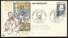 FDC Lettre Illustrée Premier Jour Circulée Paris 4/02/1967 N°1511 Emile Zola Avec Publicité TB Soldé  à Moins De 20 % !6 - 1960-1969