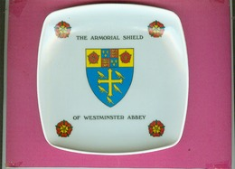 THE  ARMORIAL  SHIELD  OF  WESTMINSTER  ABBEY.    RARE VIDE POCHE PLASTIQUE COUPELLE CENDRIER RAMASSE MONNAIE. - Other