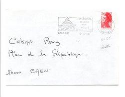 FLAMME MUSEE DE LA POSTE DE CAEN CALVADOS 1988 - Oblitérations Mécaniques (flammes)