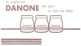 Y D/Buvard  Yoghourt Danone  (Format 21 X 12.5) (N= 3) - Food