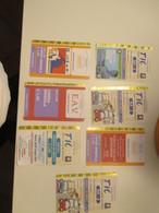 New N.7 Different Used Tickets NAPOLI Napoli Teatro Festival Salone Libro - Europe