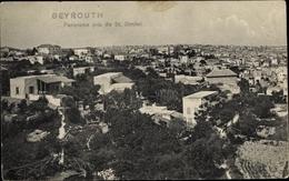 Cp Beirut Beyrouth Libanon, Panorama Pris De St. Dimitri - India