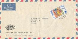 Kenya Air Mail Cover Sent To Denmark Single Franked - Kenya (1963-...)