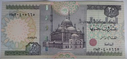 20 Pounds Egypt 2016 UNC--First Perfix Of Hesham Ramez  (Egypte) (Egitto) (Ägypten) (Egipto) (Egypten)  Africa - Aegypten