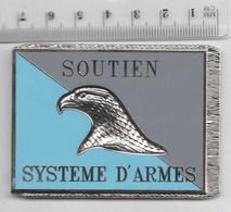 DRAPEAU SOUTIEN SYSTEME D' ARMES, MATERIEL - En Métal Argenté - Drapeaux