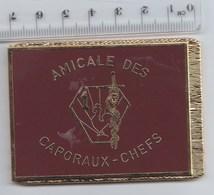 DRAPEAU INSIGNE 1° RMED REGIMENT MEDICAL , Amicale Des Caporaux Chefs - En Métal Doré - Drapeaux