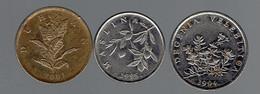 Lot De 3 Pièces De 10, 20 Et 50 Lipa (1994, 1995 Et 2001) - Croatie