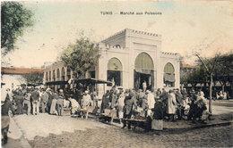 TUNIS -Marché Aux Poissons - Cachet Militaire : 116° Rgt D' Infanterie    (107127) - Tunisie