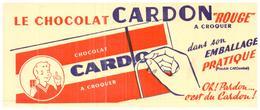 C C/Buvard Chocolat Cardon (Format 20 X 8.5) (N= 1) - Cocoa & Chocolat