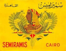 """¤¤  -  Etiquette De L'Hôtel """" SEMIRAMIS """"  CAIRO  -  Egypte , Le Caire  -  Voir Description   -  ¤¤ - Etiquettes D'hotels"""