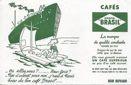 Buvard Café Costa Brasil - Naufragé Sur Son Radeau - Coffee & Tea