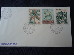 CAMBODIA  FDC 1965 PLANTS FLOWERS MEDICAL - Cambodia