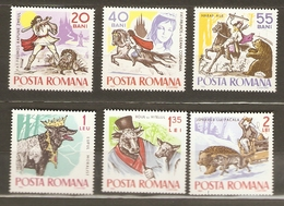 Roumanie 1965 - Fables Et Contes Folkloriques - Série Complète  MNH 2132/7 - Loup - Boeuf - Ours - Chien - 1948-.... Republiken