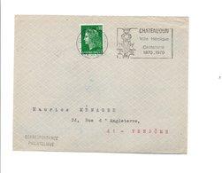 FLAMME DE CHATEAUDUN VILLE HEROIQUE EN 1870 EURE ET LOIR 1970 - Postmark Collection (Covers)