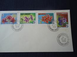CAMBODIA  FDC 1971 PLANTS FLOWERS - Cambodia