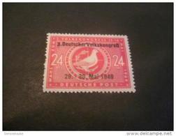 K10161- Stamp MNH  German Dem. Rep. 1949- SC.10N47- Black Overpitn - 3 Deutscher Volkscongress 29-30 Mai 1949 - DDR